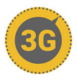 flat 3g logo with speed meter icon vector image vector image