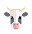 flat design cow farm animal vector image vector image