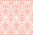 floral damask pink seamless pattern vector image
