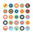 Flowers Colored Icons 3