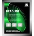 Flyer leaflet booklet layout Editable design tem vector image vector image