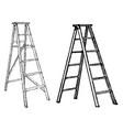 four legged ladder vintage vector image vector image