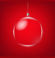glass ball vector image vector image