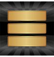 golden banners vector image vector image
