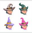 granny cartoon characters set design vector image vector image