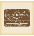 Grungy mediaplayer icon vector image vector image