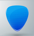guitar pick with blue pattern vector image