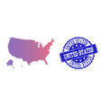 halftone gradient map of usa territories and vector image vector image