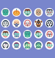 halloween monsters icon set sign symbol vector image vector image