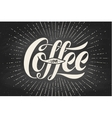 Hand-drawn lettering inscription Coffee Love on vector image