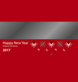 happy new year 2017 background year of roostereps vector image