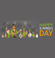 happy st patricks day celebration banner with vector image
