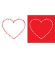 heart grunge frame set valentine scribble heart vector image vector image