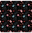 Hipster Doodles Colorful Seamless Pattern vector image