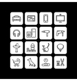 Icons of products categories Linear Black vector image vector image