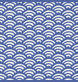 japanese chinese traditional asian wave pattern vector image vector image