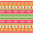 knitted pattern in ethnic style vector image