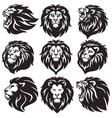 lion logo set collection package premium vector image vector image
