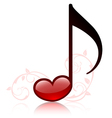 lovemusic vector image