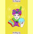 magician man card is magic card for taro with man vector image vector image