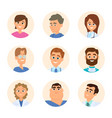 medical nurses and doctors avatars in cartoon vector image