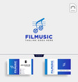 music clip cinema media entertainment simple logo vector image vector image