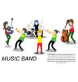 musicians ska reggae group play guitar singer vector image