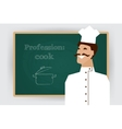 Occupation cook profession vector image