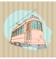 old tram vector image