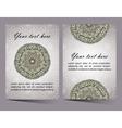 Ornaments collection with mandala circular pattern vector image