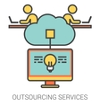 Outsourcing services line icons