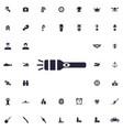 pocket flashlight icon vector image vector image