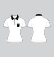 polo woman shirt design templates vector image vector image