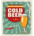 Poster retro beer vector image vector image
