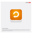 reload icon orange abstract web button vector image vector image