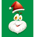 Santa face on green vector image