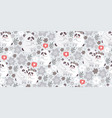 seamless pattern with cute pandas couples love vector image vector image
