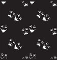 seamless pattern with theatrical masks vector image vector image