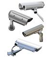 security camera vector image vector image