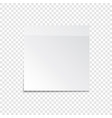 sticky paper note with tape and shadow isolated vector image vector image