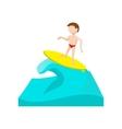 Surfing cartoon icon vector image vector image