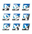 Swoosh Sport Alphabet Logo Icons Set 1 vector image vector image