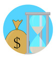 time and money icon concept vector image vector image