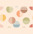 trendy color seamless hand drawn pattern vector image