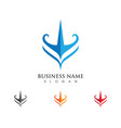 trident logo template vector image