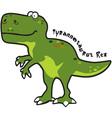Tyrannesaurus vector image