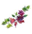 vintage floral composition vector image vector image