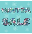 Winter sale words with hand drawn elements