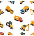 Work Trucks Seamless Pattern vector image vector image
