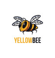 yellow bee mascot cartoon logo template vector image